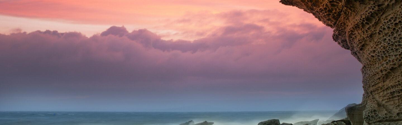 Sunset sky in Gibraltar