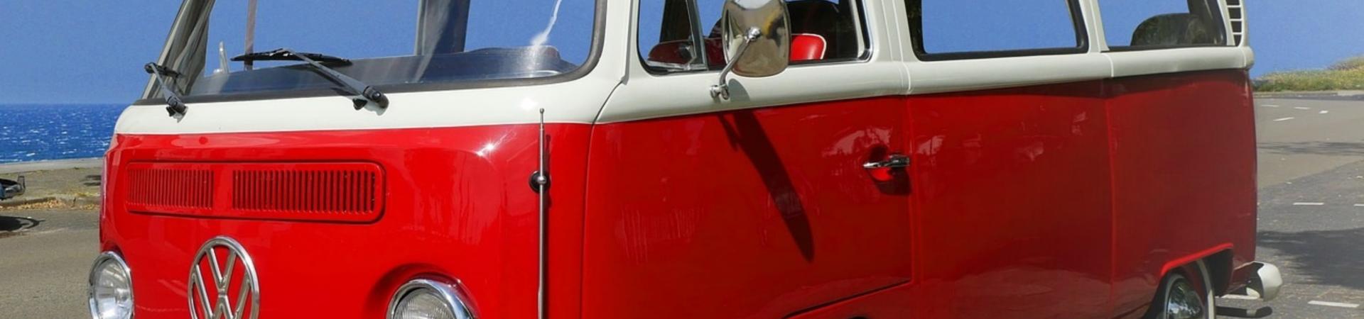 Pensions hero image of red camper van