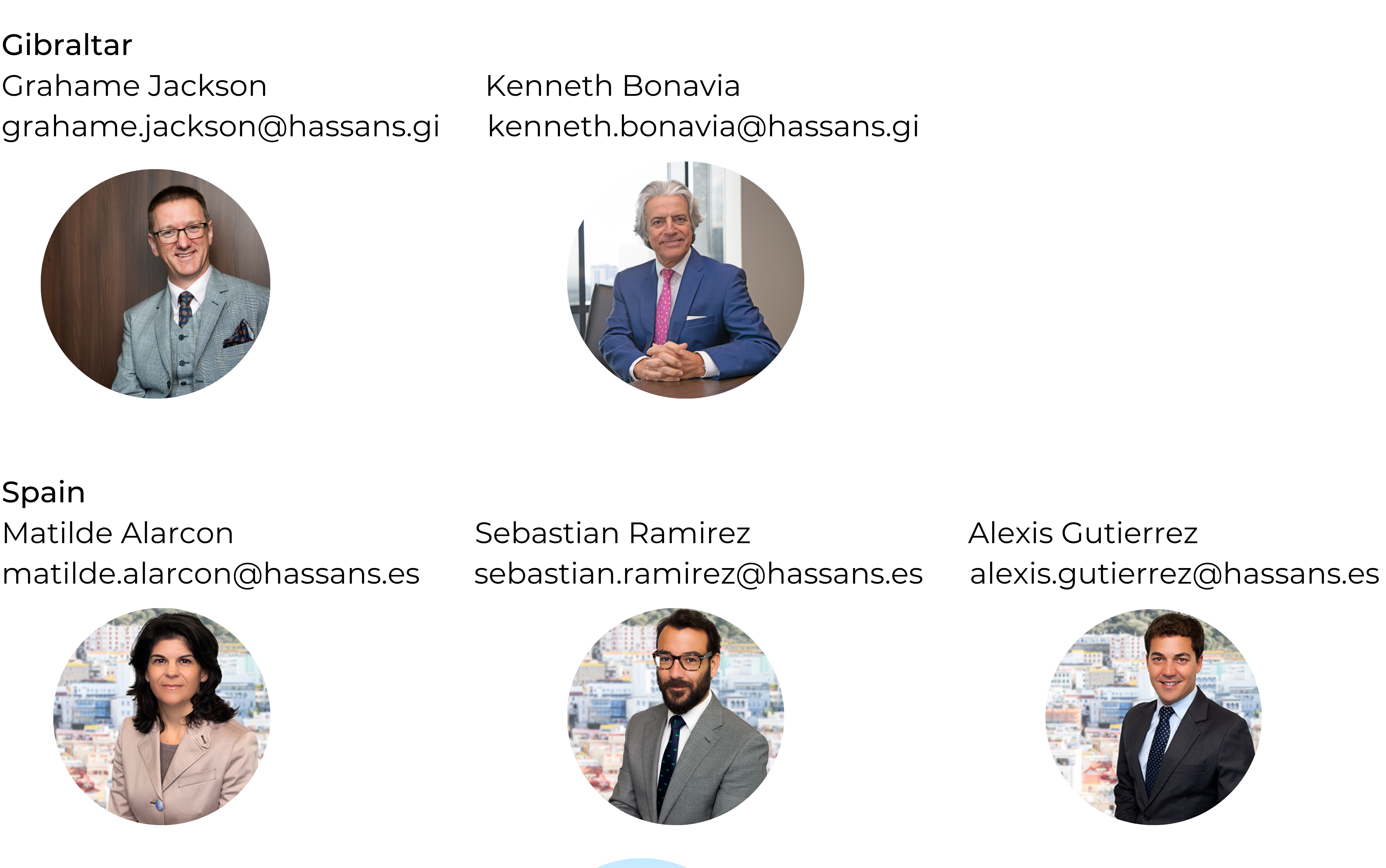 Hassans International Law Team Contacts